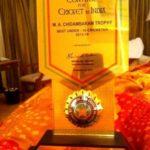 Shubman Gill received M.A. Chidambaram Trophy