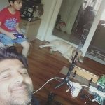 Shuja Haider With His Son
