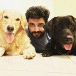 Siddharth Vipin loves dogs