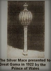 Silver Mace Presented To Gama By Prince od Wales
