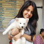 Simran Pareenja a pet lover