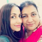 Sneha Namanandi with her mother