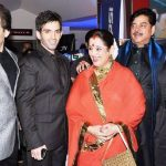 Luv Sinha with his parents, brother, sister