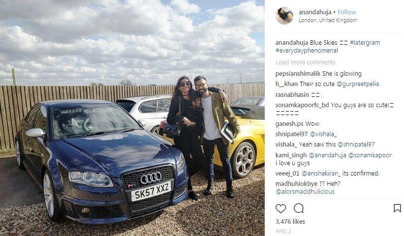 Sonam Kapoor and Anand Ahuja in United Kingdom