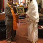 Sri Gaurav Krishna Goswami With Sir Anerood Jugnauth The Former Prime Minister of Mauritius