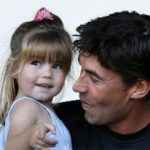 Stephen Fleming With His Daughter Tayla