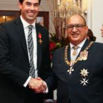 Stephen Fleming With The Governor-General Of New Zealand, Sir Anand Satyanand