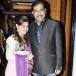 Sudesh Bhosle With His Wife