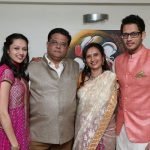 Suhani Dhanki with parents and brother