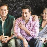 Sushila Charak with her husband Salim and son Salman