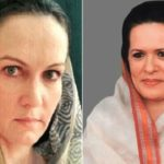 Suzanne Bernert as Sonia Gandhi in the film The Accidental Prime Minister