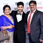 Taaha Shah with his parents