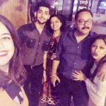 Tanishka Kapoor with her family