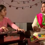 Tanishq Kaur learning singing skills from her mother