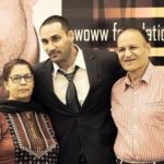 Tarun Gill with his parents