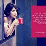 Teena Singh in Nescafe Print
