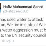 Tweet Of Hafiz Saeed