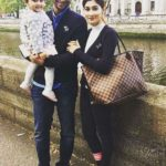 Umme Ahmed Shishir with her husband and daughter