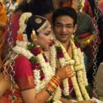 VJ Bhavana with her husband NIkhil