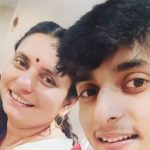 Vidit Sharma with his mother
