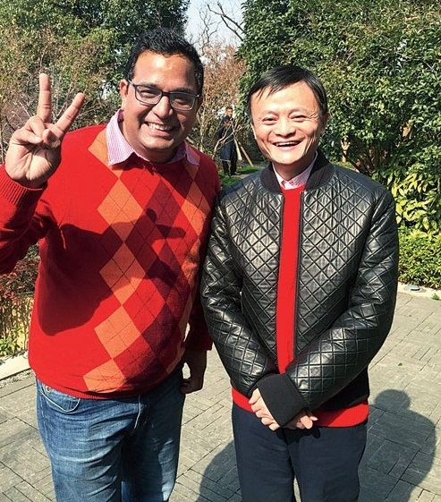 Vijay Shekhar Sharma with Alibaba founder Jack Ma