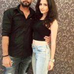 Vineet Kumar Chaudhary with his wife Abhilasha Jakhar