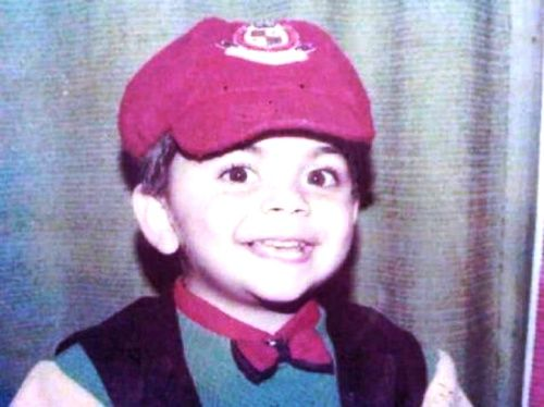 Virat Kohli Childhood Photo