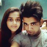 Vishnu Sharma with his sister