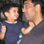 Viswanathan Anand With His Son Akhil