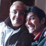 Ankit Sharma With His Father Nagendra Sharma