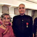 Yashwant Sinha With His Wife Nilima Sinha