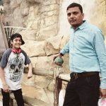 Yogesh Sharma with his father