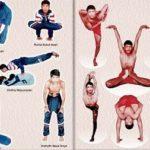 Young Shifuji doing yoga