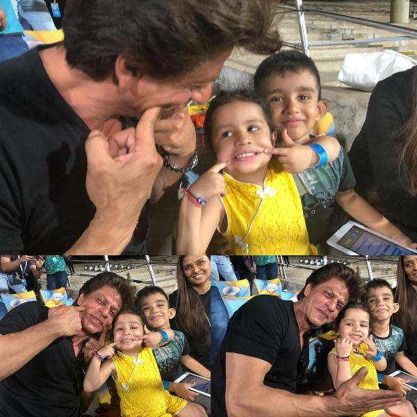 Ziva Dhoni With Shah Rukh Khan