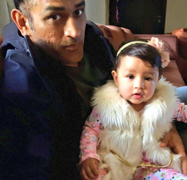 Ziva Dhoni's First Birthday Picture With Her Father