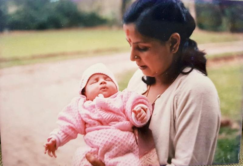 Ziva Dhoni's Picture With Her Mother