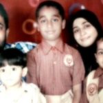 Zubair Khan with his wife and children