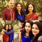 Radhika Dhopavkar With Her Parents And Sister