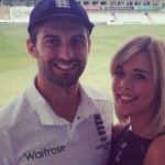 Mark Wood's girlfriend  Sarah Lonsdale