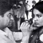 Raj Kapoor and Zeenat Aman