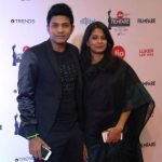 Singer Karthik with his  wife Ambika